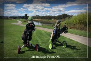 How about a game of golf at the Eagle Point Golf Course?